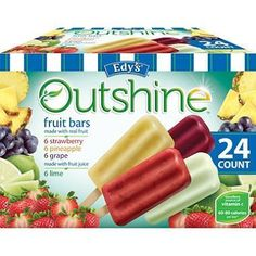 Edy's Outshine Fruit Bars 6 count