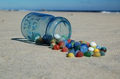 Old Sea Glass Marbles