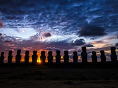 Sunrise at Ahu Tongariki on Easter Island