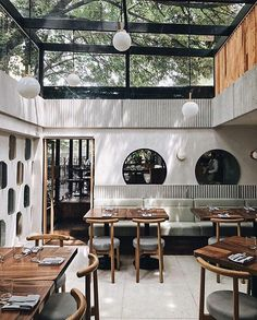 Set inside a modernist building, Mexico City-based restaurant combines avant-garde culinary techniques with the finest local craftsmanship Café Design, Home Design, Modern Design, Design Ideas, Architecture Restaurant, Interior Architecture, Restaurant Interior Design, Home Interior, Italian Interior Design