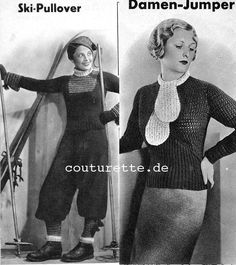 The Vintage Pattern Files: 1930's Knitting Spinnerin-Lehrbuch