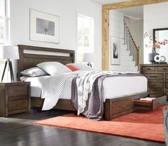 Parkside King Bedroom Set Easy Glide Drawers with Full Extension Ball Bearing GlidesDurable Dovetail Drawer JoineryUSB Outlets on Both Sides of the HeadboardBox Spring Required Panel Headboard, Panel Bed, Cal King Bedding, Bedding Sets, King Beds, Queen Beds, Queen Bed Dimensions, King Bedroom Sets, Master Bedrooms