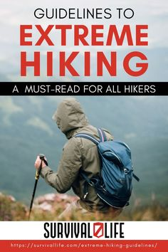 Extreme hiking is fun, but it's very dangerous. That's why it takes months of preparation before anyone can traverse the wilderness or scale the side of a mountain. So read through this list of safety guidelines first before you go out into the woods. #survivallife #survival #preparedness #survivalist #prepper #camping #outdoors #spring #outdoorsurvival #hiking #hikingtrails #hikingsafety Survival Life, Survival Skills, Camping Outdoors, Outdoor Survival, Emergency Preparedness, Hiking Trails, Bushcraft, Outdoor Activities, Wilderness