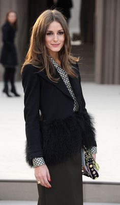 Loving this black jacket, with a printed button down,