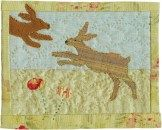 Applique hare quilt