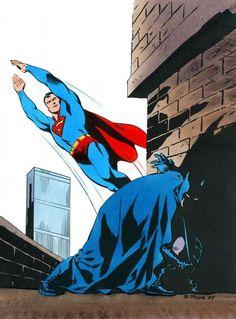 Steve Rude SUPERMAN/BATMAN Original DC Comics Presentation Art by Tom Ziuko