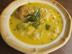 Chupe de ollucos - soup from Arequipa Peru