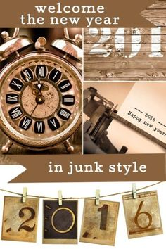 A Junk Style New Years Eve | eBay New Year Celebration, Do It Yourself Projects, New Years Eve Party, Diy Ideas, Decor Ideas, Craft Ideas, Baby Items, Holiday Fun, Happy New Year