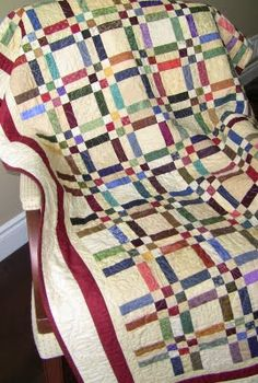 Checks and Balances Scrap Quilt - love this!