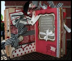 I love this book she's made. Especially how she took out chunks. Pink Buckaroo Designs, Erica Cerwin Stampin' Up Demonstrator,