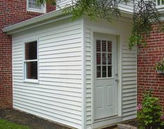 After a porch was turned in to an enclosed mud room Bungalow Porch, Porch Entry, Side Porch, Porch Roof, Bungalow Extensions, Laundy Room, Veranda Design, Enclosed Porches, Wood