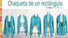 Esta chaqueta o saco con mangas largas tiene muchas formas de usarse! Es muy fácil de tejer ya que es un tejido recto y usamos un punto fantasía tejido con p...