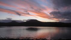 Jayne Cook lives on Skye and took this photo from Dunvegan looking across the loch to the Macleod's Tables.