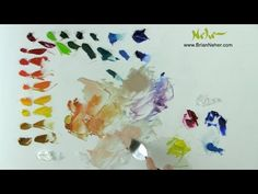 How to mix color, Value, Harmony, paint with a limited palette primary colors - YouTube