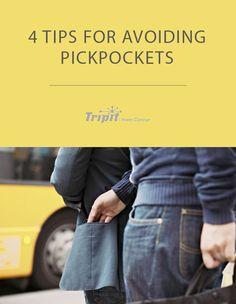 4 Tips for Avoiding Pickpockets
