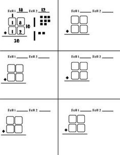 guided math lesson double digit addition - Google Search