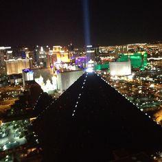 View of fabulous Las Vegas from 64 floors up at Mandalay Bay