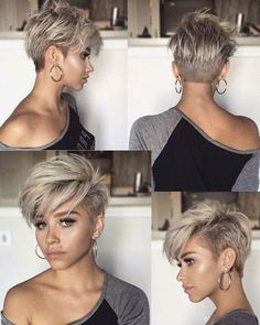 100 New Short Hairstyles for 2019 - Bobs and Pixie Haircuts, Today's article is all about 100 new short hairstyles for 2019. We all pretty sure that long hair is not the best option for each lady to be most fem..., Hairstyle Ideas