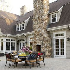 This looks so classy! Afternoon tea anyone? - traditional patio by Oak Hill Architects