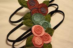 The Little Garden Bloom- Felt Headband. $10.00, via Etsy.