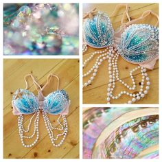Custom Mermaid Bra Rave Bra Rave Outfit Made by seagypsycouture