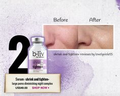 Shrink and Tighten+ - Large pores diminishing night complex  #blivinbeauty and #pinmetowinme