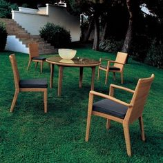 Prisma Outdoor Wicker Dining Set 5-Piece for $7,062 #OutdoorPatioDiningSets #OutdoorFurniture #CozyDays