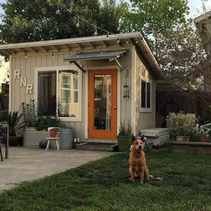 "This craftsman-style She Shed makes its intentions clear with a large ""R'n'R"" sign out front."