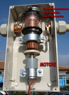LOOP MAGNETICO antenna HF 10 160 metri condensatore varaiabile sottovuoto I6IBE loop