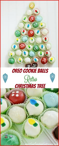 This Cookie Ball Retro Christmas Tree will make a wonderful gift or centerpiece! Recipe and tutorial included.