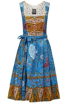 Noh Nee Dirndl Téré in blue - African dirndl dress