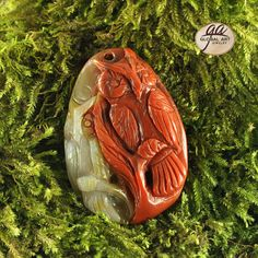 EA03107# Gorgeous 100% Natural Hand Carved Gemstone Owl Animal  Multi-color Jade  pendant Bead 1 Pcs