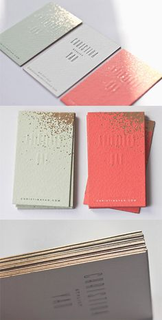 gold accent business card