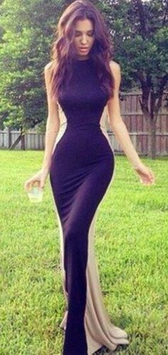 **Lyndsey's Comments: I like the optical illusion of an hourglass figure that this dress creates.
