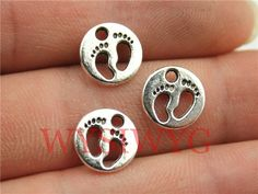 Aliexpress.com : Buy WYSIWYG 15pcs 11*11mm antique silver double side feet charms from Reliable charm tray suppliers on WYSIWYG STORE  | Alibaba Group