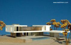Maqueta de los fondos con la piscina #casasdecampomodernas
