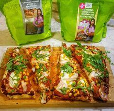 Szénhidrátcsökkentett gluténmentes pizza, pizzás csiga és pizzás csavart rúd (tejmentes, élesztőmentes, szójamentes, paleo) – Éhezésmentes karcsúság Szafival Tacos, Mexican, Ethnic Recipes, Food, Essen, Meals, Yemek, Mexicans, Eten
