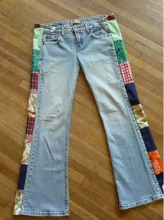 Widen jeans with side designs