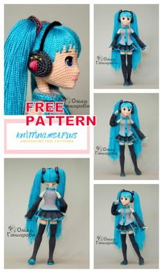 We share the latest free patterns with Amigurumi with you. In this article, amigurumi doll miku hatsune free crochet pattern is waiting for you. Crochet Dolls Free Patterns, Crochet Designs, Knit Or Crochet, Free Crochet, Knitted Teddy Bear, Teddy Bears, Easy Knitting Projects, Hand Knitted Sweaters, Yarn Shop
