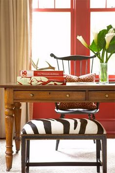 love these colors.. Persimmon, red..
