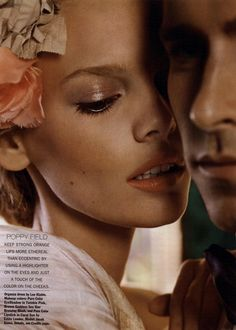 Allure mag, May 2011, glistening lids and coral lips.