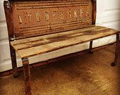 Vintage Studebaker Tailgate bench handmade art classic unique