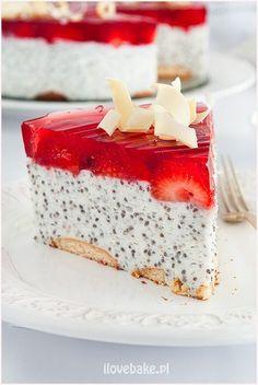 Deser z chia, owocami i galaretką #chia Sweet Recipes, Cake Recipes, Dessert Recipes, Healthy Desserts, Delicious Desserts, My Favorite Food, Favorite Recipes, Good Food, Yummy Food