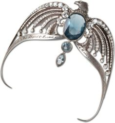 The Diadem of Rowena Ravenclaw hidden in the Room of Requirement in Hogwarts Castle. Harry Potter destroyed the diadem, which is one of Voldemort's horcruxes