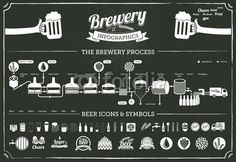 Vetor: brewery infographics - beer design elements & icons