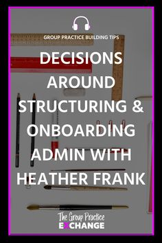 In this episode, I'm talking with Heather Frank all about developing and training an administrative team. culture in your group practice.In this episode we cover:  🌱Considering your growth when building an admin team  🌱Fill time vs part time admin  🌱Transitioning from clinician/admin hybrid to full admin role  🌱Training new admin staff Administrative Work, Nice Meeting You, Seo Tips, Counseling, Online Marketing, Mental Health, Leadership, Fill, Coaching