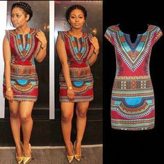Women Hot Sexy V-neck Traditional African Print Dashiki Bodycon Party Mini Dress African Fashion Designers, African Men Fashion, Africa Fashion, Trendy Outfits, Fashion Outfits, Fashion Tips, Trendy Clothing, Fashion Ideas, Women's Fashion