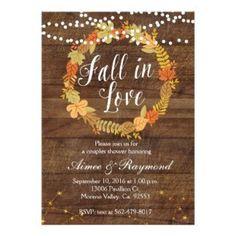 Fall bridal shower idea - fall rustic bridal shower invitation {Courtesy of Zazzle} #weddinginvitation #fallbridalshowerinvitations