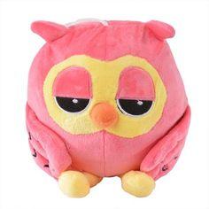 Plush Toy - Pink Owl for Baby Nursery, Little Girls Bedroom 20cm
