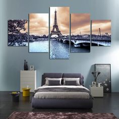 HD Printed The European cities construction scenery canvas Painting room decor print poster Modular wall Picture no frame - TakoFashion - Women's Clothing & Fashion online shop Living Room Decor Gifts, Living Room Paint, Home Decor Wall Art, Diy Home Decor, Bedroom Wall, Bedroom Decor, Scenery Paintings, Wall Paintings, Tour Eiffel